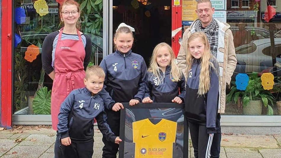 Black Sheep Collective sponsor Castlethorpe football team